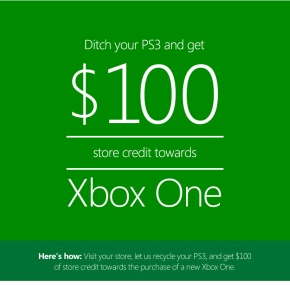 The Microsoft Store Wants You To Trade In Your PS3 ToThem